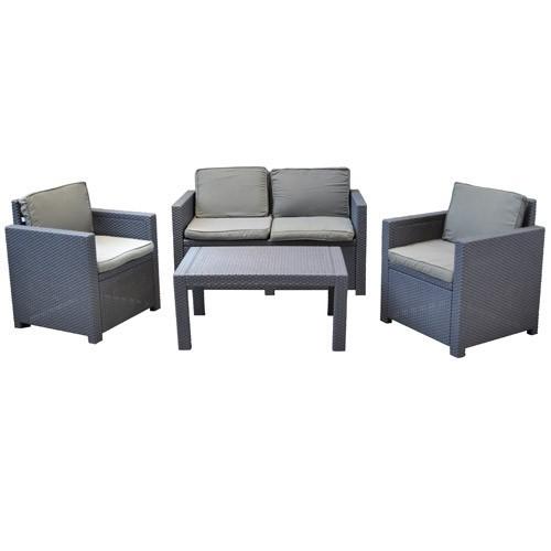lounge auflagen set victoria allibert grau sitzauflage. Black Bedroom Furniture Sets. Home Design Ideas